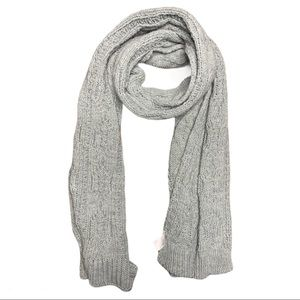 Woman Within Gray Knit Scarf